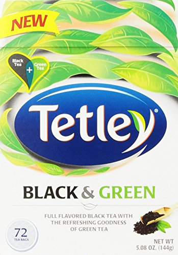 Tetley Tea Bags, Black and Green, 72 Count (Green Tea British compare prices)