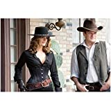 Castle (TV Series 2009 - 2016) 8 inch x 10 inch Photo Nathan Fillion & Stana Katic in the Old West kn