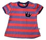 Pippi - Camiseta - Rayas - para bebé niña rojo morado