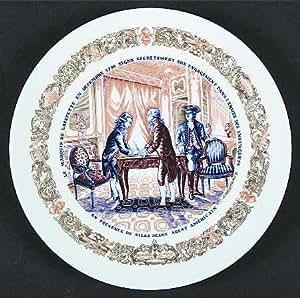 Amazon.com | D'ARCEAU LIMOGES - City Tavern Meeting - Lafayette Legacy Revolutionary War Scenes