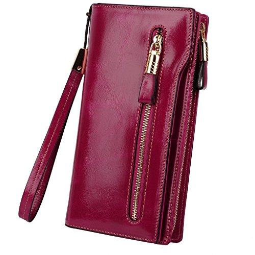 yaluxe-donne-grande-capacity-luxury-cera-pelle-wristlet-portafogli-con-cerniera-tasca-rose-pink