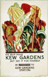 London Underground Poster The Palm House Kew Gardens - On Matte Paper A4 Size
