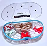 Gasketed Vitacarry 8 Compartment Pill Box Holds up to 150 Pills Waterproof - Color Clear