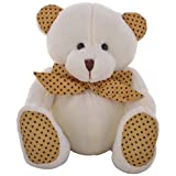Twisha Bear Sitting White With Yellow Spotted Paws 9 X 8 X 7 Inch