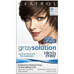 Clairol nice 39 n easy gray solution hair color light ash brown 006a 1 ea health - Easy hair care solutions ...