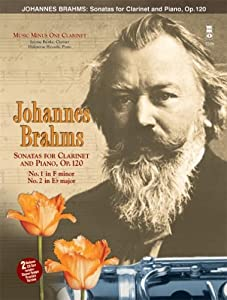 Johannes Brahms Sonatas For Clarinet And Piano Op 120 Music Minus One Clarinet With 2cds from Mmo