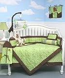 Soho Sage Tribeca Stitch Baby Crib Nursery Bedding SET 10 Pieces