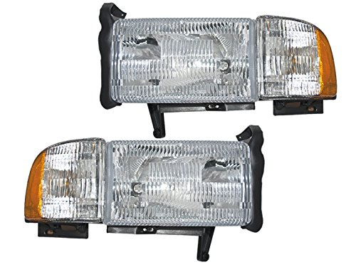 Dodge Ram Headlights OE Style Replacement Headlamps Driver/Passenger pair New W/O Sport (Oe Headlights compare prices)