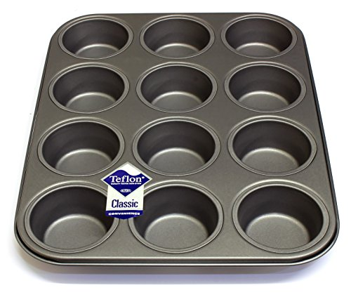12 Hole Deep Muffin Pan Tin Baking Tray With Teflon 174 Tm
