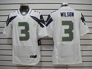 Seattle Seahawks 3 Russell Wilson White Elite Jersey (48 XL) by LEAGUE GEAR