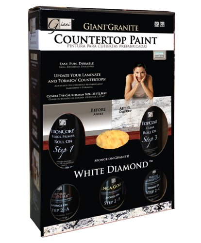 Giani Countertop Paint White : Giani Granite Giani Countertop Paint Kit, White Diamond
