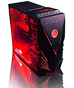 VIBOX Warrior 4XS - Fast 4.0GHz 6-Core, High Spec, Desktop Gaming PC, Computer with Neon Red Internal Lighting Kit (AMD FX 6300 Six Core Processor, 2GB Nvidia Geforce GTX 960 HDMI Graphics Card, High Grade 500W PSU, 2TB HDD Hard Drive, 16GB 1600MHz RAM, DVD-RW, SD Memory Card Reader, No Operating System)