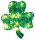 Northlight Seasonal Lighted St. Patrick's Day Irish Shamrock Window Silhouette Decoration, 15""