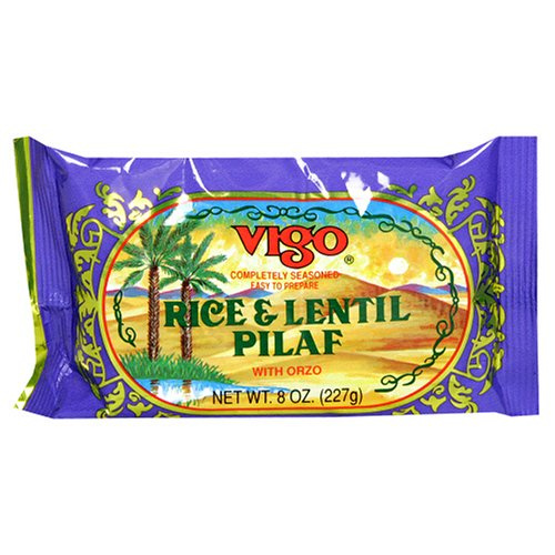 Vigo Rice and Lentil Pilaf, 8-Ounce Pouches (Pack of 12)