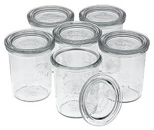 Weck 6 Stück Mini-Sturz-Glas 160ml mit Deckel