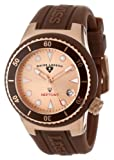Swiss Legend Womens 11840D-RG-09 Neptune Rose Dial Brown Silicone Watch