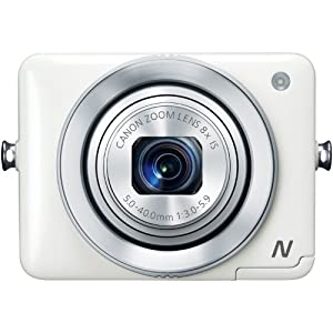 Canon PowerShot N 12.1 MP CMOS Digital Camera with 8x Optical Zoom and 28mm Wide-Angle Lens (White)