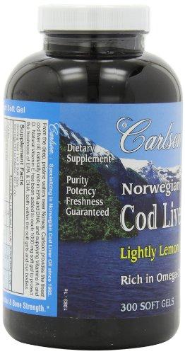 Carlson Labs 柠檬口味 鱼肝油 300粒图片