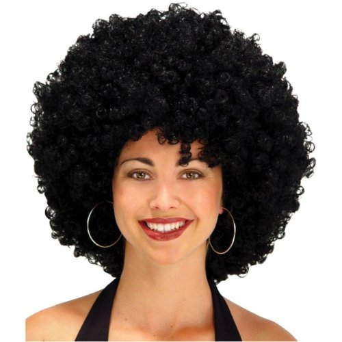 "Giant 22"" Black Afro Adult Costume Wig"