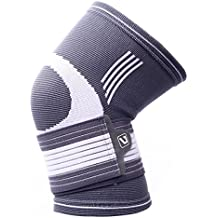 Liveup SPORTS Compression Knee Support Brace With Adjustable Elastic Bandage Straps For Arthritis Tennis LS5676...