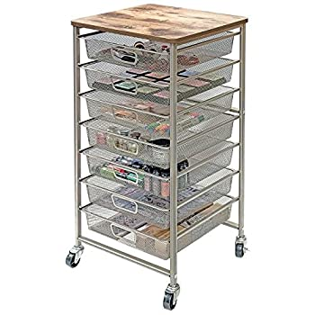 "Tim Holtz Idea-ology Signature Design Industrial Storage Cart, 33.5"" x 15.75"" x 15.75"" (CH93520)"