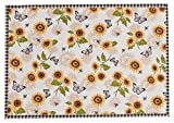 Kay Dee Designs R3164S Sunflower Meadow Fabric Placemats, Set of 4
