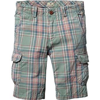 Scotch Shrunk Jungen Short 13410281509 - y/d check cargo shorts, Gr. 128 (8), Mehrfarbig (P - dessin P)