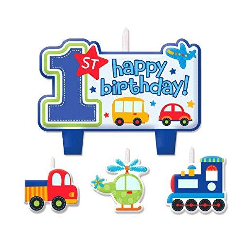 Amscan International Candle Birthday Set All Aboard Birthday