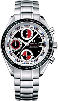Omega Men's 3210.52.00 Speedmaster Date Black & Red Automatic Chronometer Chronograph Watch