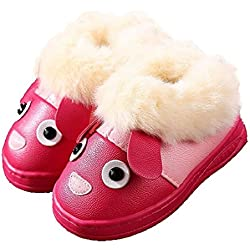 987ab2294982 CYBLING Winter Soft Soled Non-slip Kids Dog Home Snow Slippers for Toddler  Little Boys