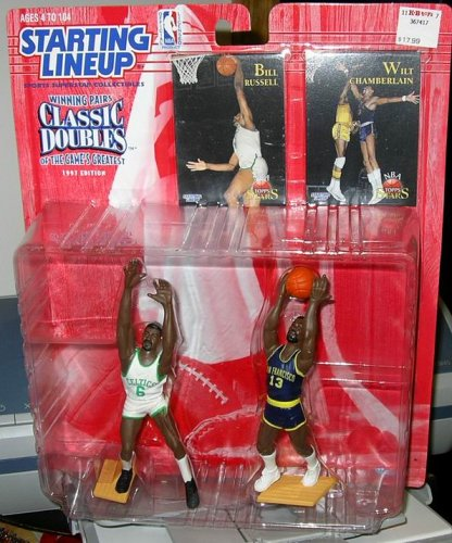 Buy 1997 NBA Starting Lineup Classic Doubles – Bill Russell & Wilt Chamberlain