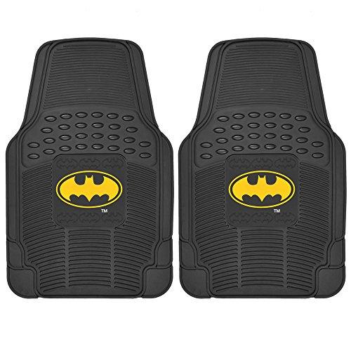 BDK WBMT-1372 Black PVC Rubber Batman Floor Mat - 2 Piece (Batman Mats Car compare prices)