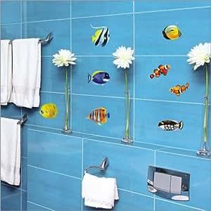 Stickers Muraux Animaux - Decoretto - Poissons de la mer rouge