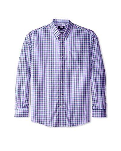 Cutter & Buck Men's Long Sleeve Evergreen Plaid Shirt