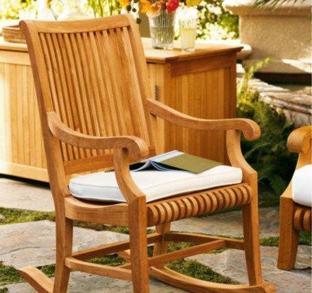 ... Wood Outdoor Patio Garden Rocker / Rocking Arm Chair [Model:GV] sale