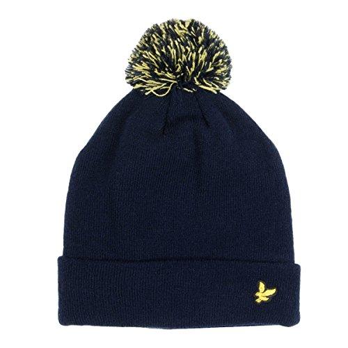 lyle-and-scott-mens-corrie-fleece-lined-bobble-hat-z05-navy-size-1sz