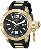 Invicta Men's 12964 Force Black Dial Black Polyurethane Watch