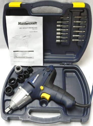Mastercraft 1/2-Inch Impact Wrench Kit 054-1216-4