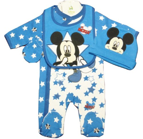 Disney Mickey Mouse 4 Piece Set for Baby Boy 3-6 Months (Official Size 6 Months)