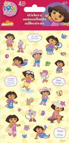 Dora the Explorer Standard Stickers - 4 Sheet - 1