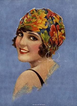 ROLF ARMSTRONG 1930s ART DECO BATHING BEAUTY THE SMILE YOU CAN'T