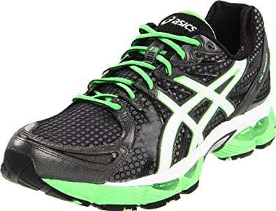 ASICS Men's GEL-Nimbus 13 Running Shoe,Storm/Onyx/Electric Apple,8 M US