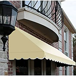 Awntech 8-Feet San Francisco Window/Entry Awning, 56-Inch Height by 48-Inch Diameter, Light Yellow