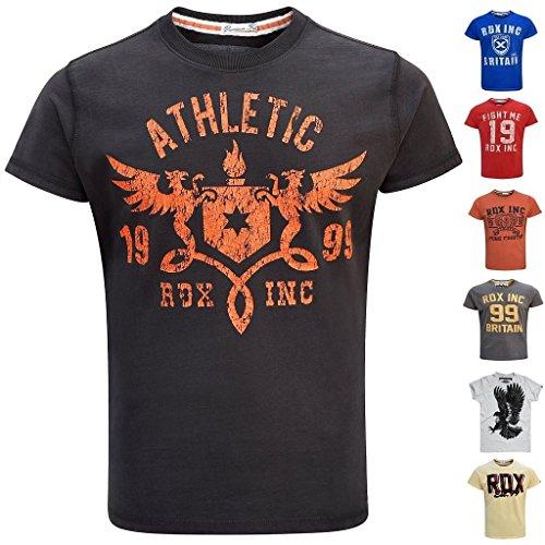 RDX Boxe Palestra Maglietta Crossfit MMA T Shirt Muscle Cotone Fitness Manica Corta Uomo Collo Rotondo