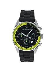 Emporio Armani Men's AR5865 Rubber with Black Dial Watch