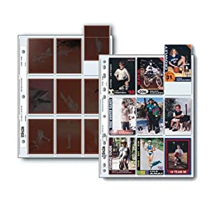 """Print File Pkg 25 Archival 120 Negative Preservers. Holds 9 Individual 6x7 sleeved negatives or 18 collectable cards or 2 1/2 x 3 1/2"""" wallet size prints"""