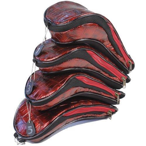 Stewart Golf Damen Schlägerkopfhüllen Moda Headcover Set, Rot, NB-7622R11-11