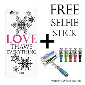Hamee Disney Frozen Princess Licensed Hard Back Case Cover For iPhone OnePlus X / One Plus X Cover with Free Selfie Stick Monopod - Combo 51