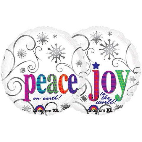 "Peace on Earth Joy to the World 18"" Mylar Balloon"