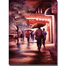 2nd Street Drizzle by Carol Jessen Premium Stretched Canvas (Ready-to-Hang)